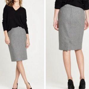 J. Crew Gray Wool Skirt Lined 0P